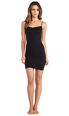 Seamless Mini Slip in Black
