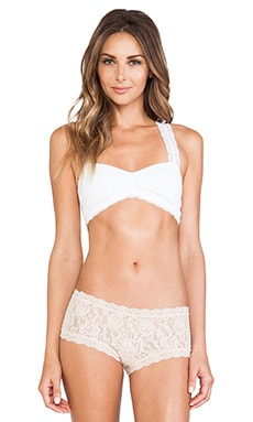 Free People Crochet Racer Back Bra in White