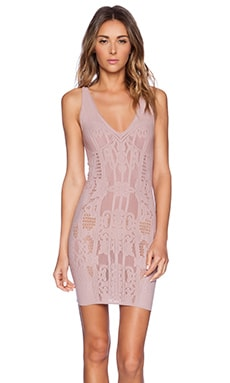 Free People Bella Coach Bodycon Slip Dress in Dusty Mauve
