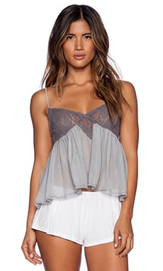 Free People Sweet Lace Cami in Light Blue Combo