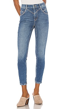 Riley Seamed Skinny Free People $78