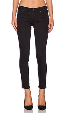 Free People Roller Crop Skinny in Black