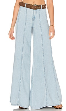 Gilmour Wideleg Pant in Light Denim