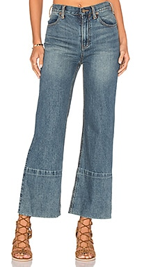Hopkin Hi Rise Wide leg Jeans in Denim Blue