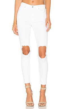 Jean Busted Skinny in White