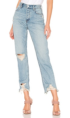 Chewed Up Midrise Straight Jean Free People $98