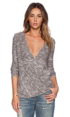 Free People Gotham Wrap in Cream & Grey Combo