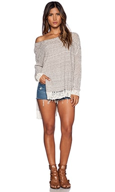 Free People Haiku Pullover in Natural Combo