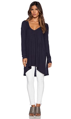 Free People Sunset Park Top in Midnight