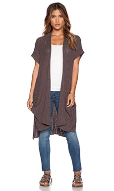 Free People Sloppy Pocket Cardigan in Mushroom