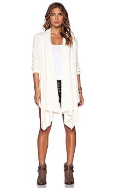 Free People In the Loop Cardigan in Tea & Cream Combo