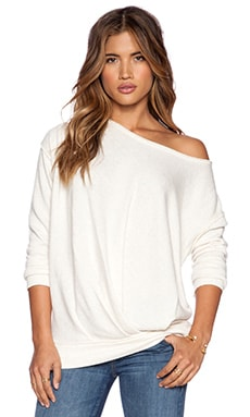Free People Draped Pullover in Oatmeal Heather