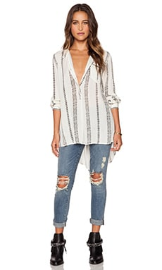 Free People Magic Pullover in Vanilla Combo