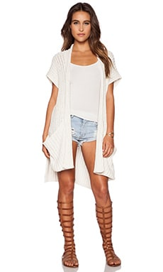 Free People Sloppy Pocket Cardigan in ivory