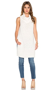 Free People White Horses Mockneck Tunic in Honey