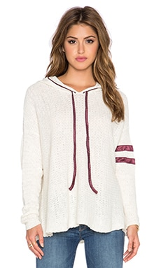 Free People Love All Hoodie in Ivory Combo