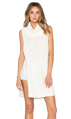 Free People White Horses Mockneck Tunic in Ivory