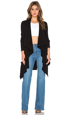 Free People Waterfall Cardigan in Black