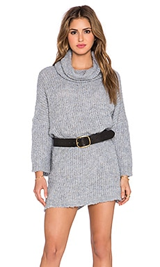 Free People Extreme Cowl Sweater in Light Blue