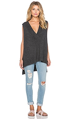 Free People Swing Vest Tank in Charcoal