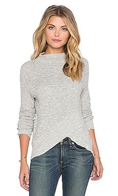 Free People Boho Wrap Sweater in Heather Grey