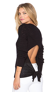 Free People Bow Back Pullover in Black