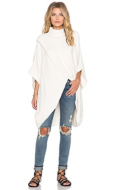 Free People All Wrapped Up Cocoon Sweater in Ivory