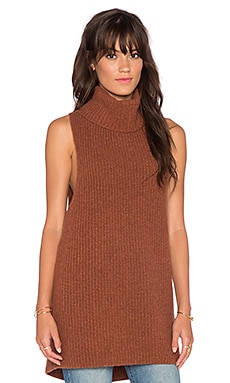 Free People Need It Now Vest in Burnt Caramel