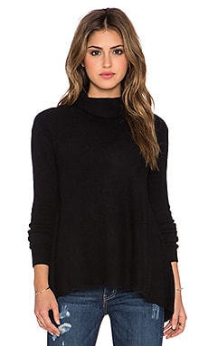 Free People Drape Drape Sweater in Black