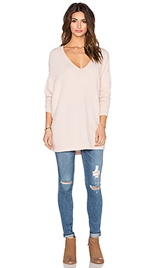 Free People Softly Vee Sweater in Ballet