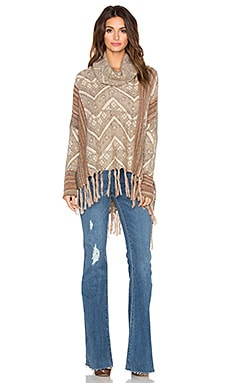 Free People Be The One Poncho in Sunset Combo