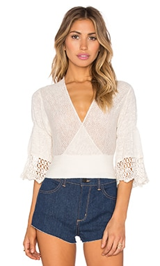 Free People Moonlight Dancer Sweater in Ivory