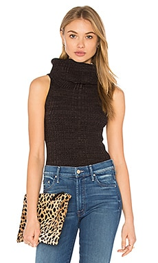 Free People Carly Cowl Sweater Top in Black