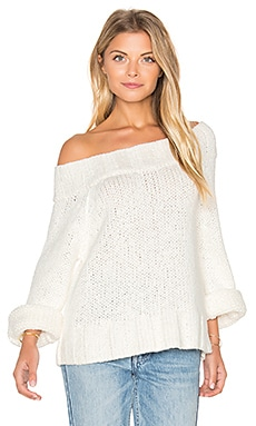 Free People Beachy Slouch Sweater in Ivory