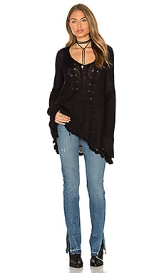Free People Waterfall Pullover in Black