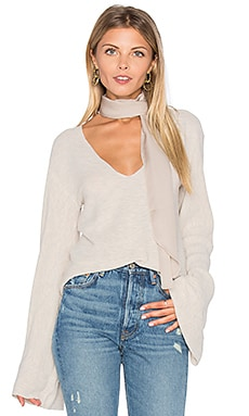 Free People Starman V Pullover Top in Ivory