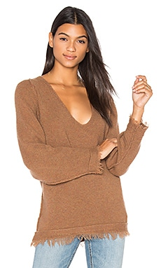 Irresistible V Sweater in Terracotta