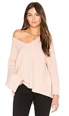 La Brea V Neck Sweater in Pink