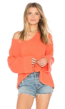 La Brea V Neck Sweater in Koralle