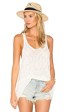 Chevron Sweater Tank en Ivory