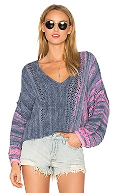 Amethyst Sweater in Blue Combo