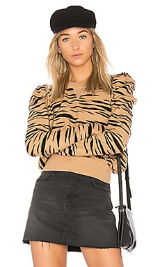 Zaza Zebra Pullover Sweater Free People $55