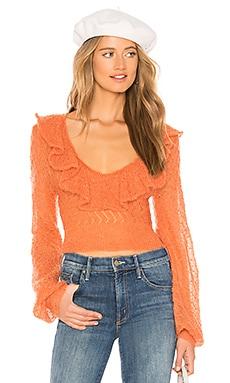 Купить Свитер macaroon - Free People тёмно-оранжевого цвета