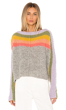 PULL ENCOLURE BATEAU SEE THE RAINBOW Free People $168