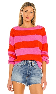 Found My Friend Stripe Pullover Free People $98 NEW