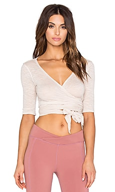 Free People Giselle Wrap Top in Pink