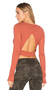 Battu Cover Up Top in Terracotta