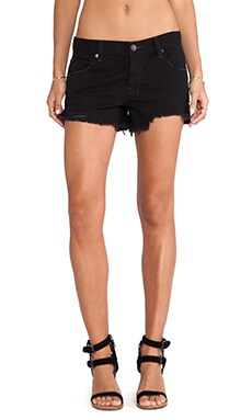 Free People Shark Bite Shorts in Stark Black