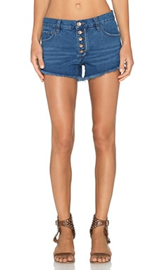 Free People Runaway Cut Off Short in Brightest Blue