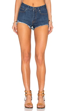 Logan Denim Shorts en Rinse Wash